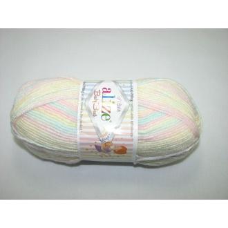 Alize Baby Best batik 100g - 6655 melír dúhový