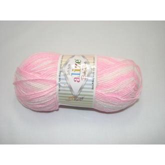 Alize Baby Best batik 100g - 6660 melír dúhový