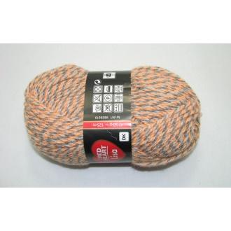 Lisa 50g-05661 oranžovo sivý melír