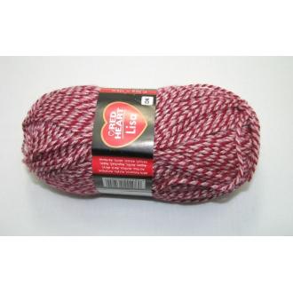Lisa 50g-05662 bordový melír