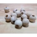 Korálky drevené guličky - 20 mm (1ks)