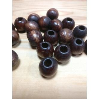 Korálky drevené lakované guličky - 20 mm (1ks)