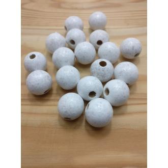 Korálky drevené guličky - 22 mm (18ks)
