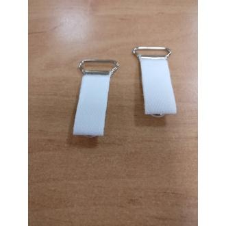 Velvety - Podväzkový držiak Biely - 18 mm