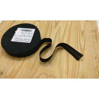 Šikmý prúžok zažehlený Bavlna 20mm - Čierny