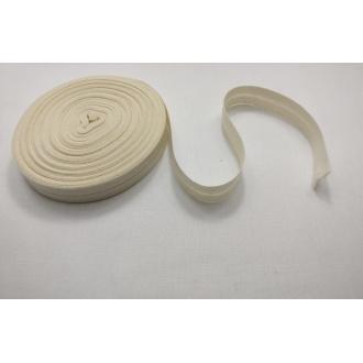 Šikmý prúžok zažehlený Bavlna 20mm - Smotana
