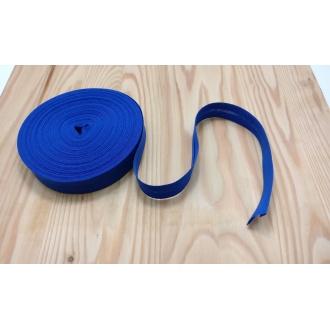 Šikmý prúžok zažehlený Bavlna 20mm - Kráľovská modrá