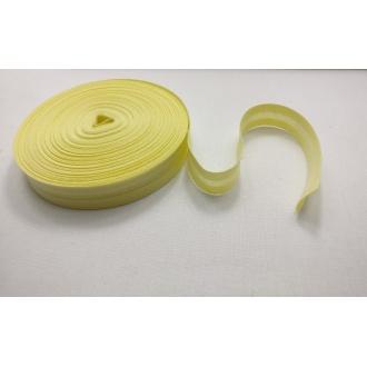 Šikmý prúžok zažehlený Bavlna 20mm - Žltá