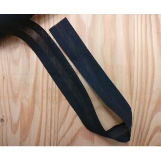 Šikmý prúžok bavlna zažehlený 30mm - Čierny