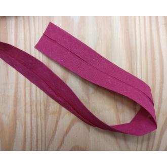 Šikmý prúžok bavlna zažehlený 30mm - Červený