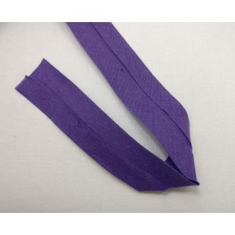 Šikmý prúžok bavlna zažehlený 30mm - Tm. fialová