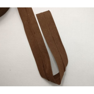 Šikmý prúžok bavlna zažehlený 30mm - Tm.hnedá