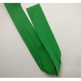 Šikmý prúžok bavlna zažehlený 30mm - trávová