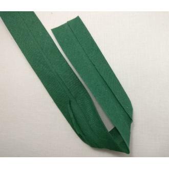 Šikmý prúžok bavlna zažehlený 30mm - Tm. zelená