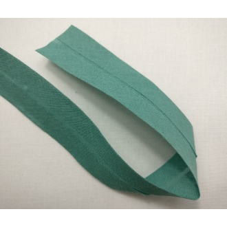 Šikmý prúžok bavlna zažehlený 30mm - Zelená