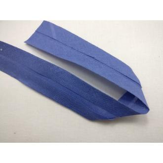 Šikmý prúžok bavlna zažehlený 30mm - Modrý