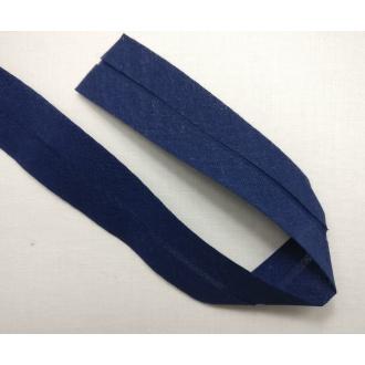 Šikmý prúžok bavlna zažehlený 30mm - Tm. modrý
