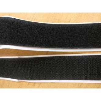 Suchý zips samolepiaci - 25 mm (Čierny)