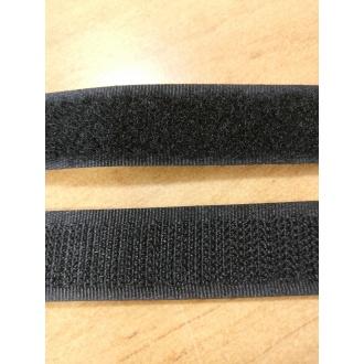 Suchý zips 16mm - (Čierny)