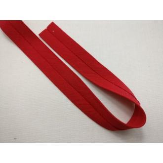 Šikmý prúžok bavlna zažehlený 20mm -Červený