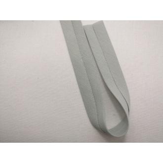 Šikmý prúžok bavlna zažehlený 20mm - Bl. šedý