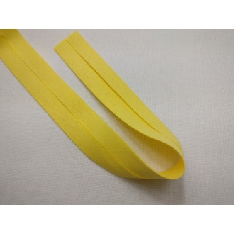 Šikmý prúžok bavlna zažehlený 20mm - Žltý