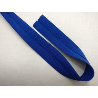 Šikmý prúžok bavlna zažehlený 20mm - Kr. modrá