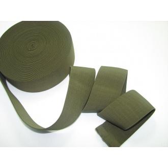 Guma ozdobná 5cm khaki zelená
