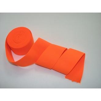 Guma ozdobná 5cm neonová oranžová