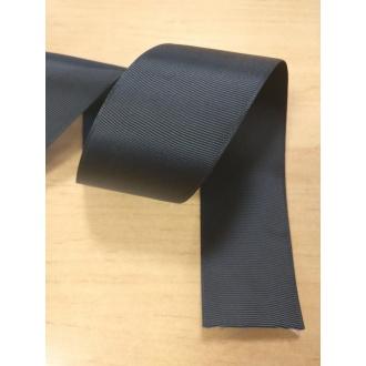 Stuha rypsová Čierna - 2,5cm
