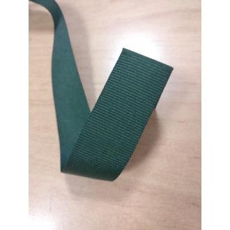 Stuha rypsová Tmavo zelená - 2,7cm