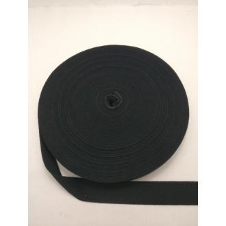 Popruh Bavlna- Čierna 3cm
