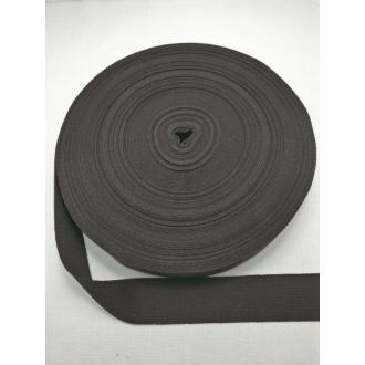 Popruh Bavlna- Tmavo hnedý 3cm