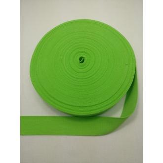 Popruh Bavlna- Neónová zelená 3cm