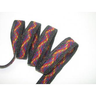 Popruh  farebný pletený 2,5cm