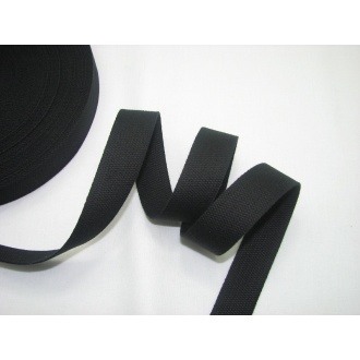 Bavlnený popruh 2cm čierny