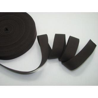 Bavlnený popruh 3cm hnedý
