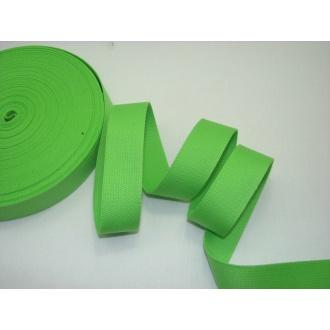Bavlnený popruh 3cm zelený