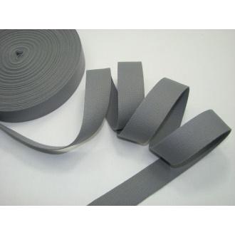Bavlnený popruh 3cm šedý