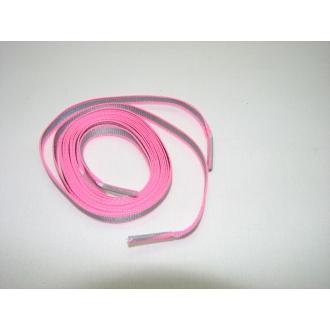 Reflexné šnúrky do topánok ružové