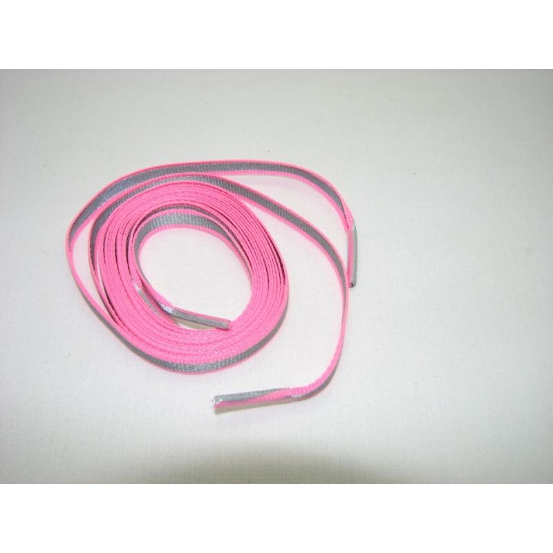 f8f54b5b2f Reflexné šnúrky do topánok ružové