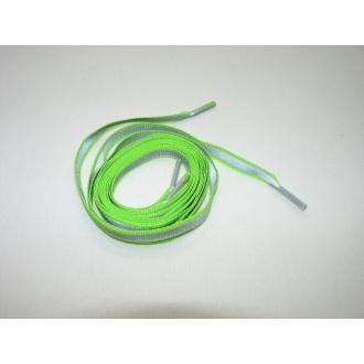 Reflexné šnúrky do topánok zelené