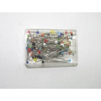 Špendlík so sklenenou hlavičkou 10g