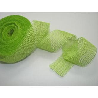 Stuha jutová š.5,5cm - zelená