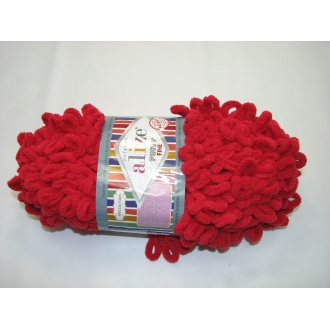 Alize Puffy fine 100g - 56 červená