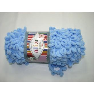 Alize Puffy fine 100g - 218 sv.modrá
