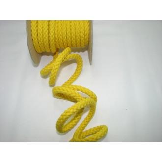 Šnúra bavlna odevná,aranžérska, žltá