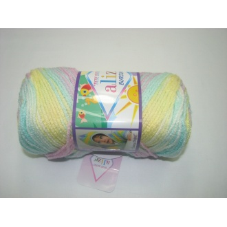 Alize Bebe Burcum batik 100g- 6950 melír dúha