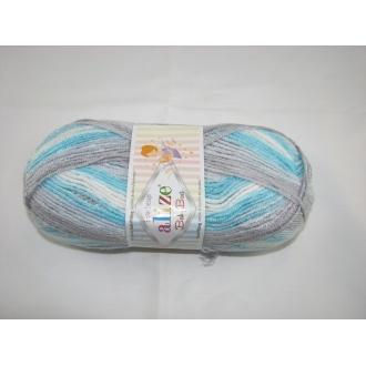 Alize Baby Best batik 100g - 7246 šedo tyrkysový melír