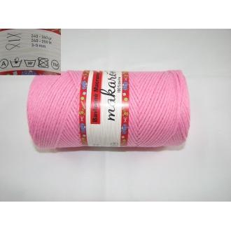 Bavlnené Macrame-Makarony 250g-ružová